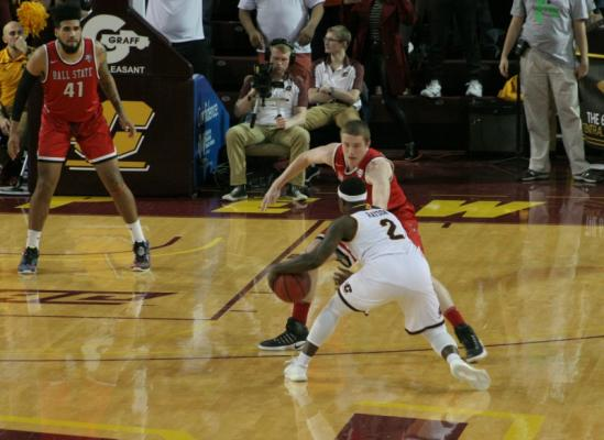 CMU drops exciting overtime game to Ball State 109-100