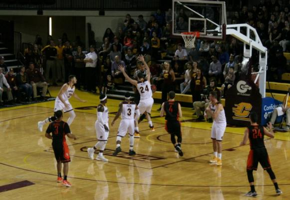Central Michigan Mens Basketball team play solid game in 82-76 win