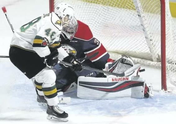 Brady Gilmour scores game winner in overtime to give Spirit 6-5 OT win over the London Knights