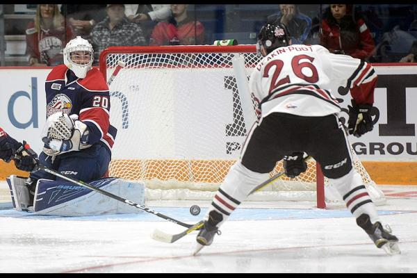 Brendan Bonello gets first OHL victory with 4-2 win over Guelph Storm
